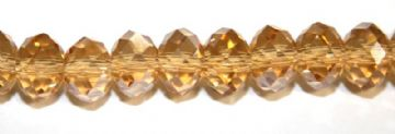 72pcs x 8mm Citrine faceted glass rondelle beads